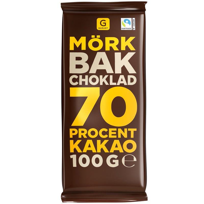 Bakchoklad 70% Mörk - 19% rabatt