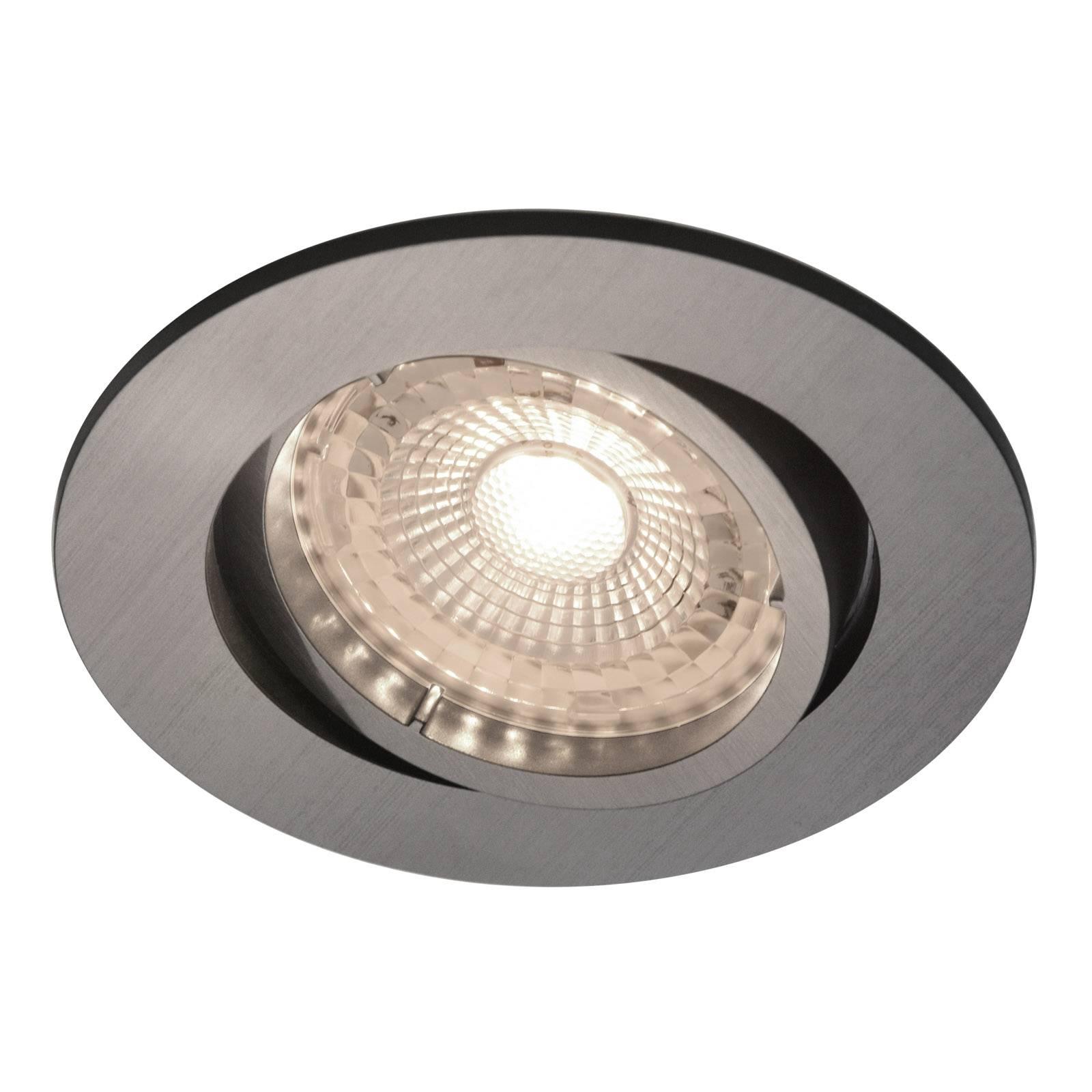 Upotettava LED-kohdevalaisin Octans 3 kpl nikkeli