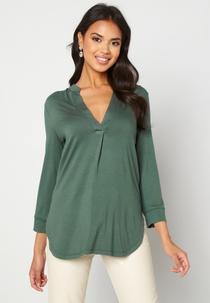 Happy Holly Milly 3/4 sleeve tunic Dusty green 32/34