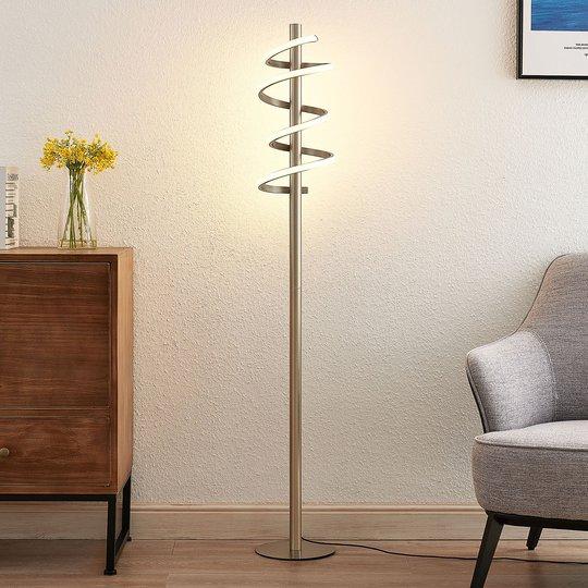 Lucande Milora -LED-lattiavalo satinoitu nikkeli