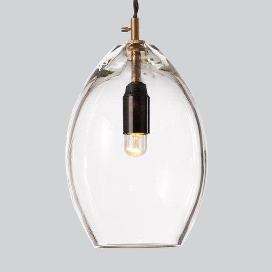 Kirkas design-lasiriippuvalaisin Unika, 14 cm