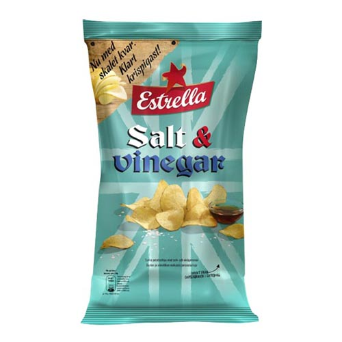 Estrella Salt & Vinäger Chips - 175 gram