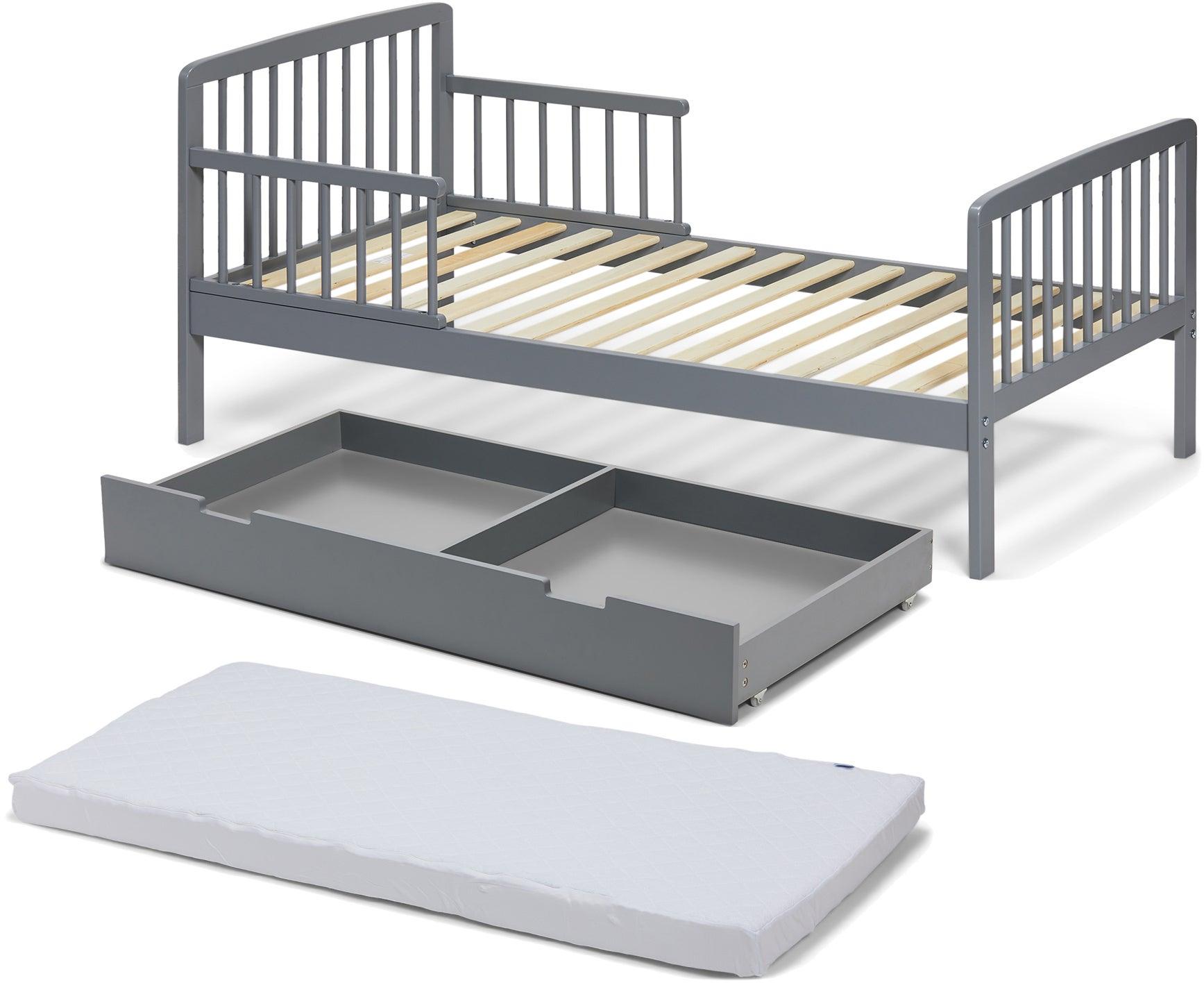 JLY Heaven Juniorisänky + Sängynaluslaatikko + Patja, Harmaa