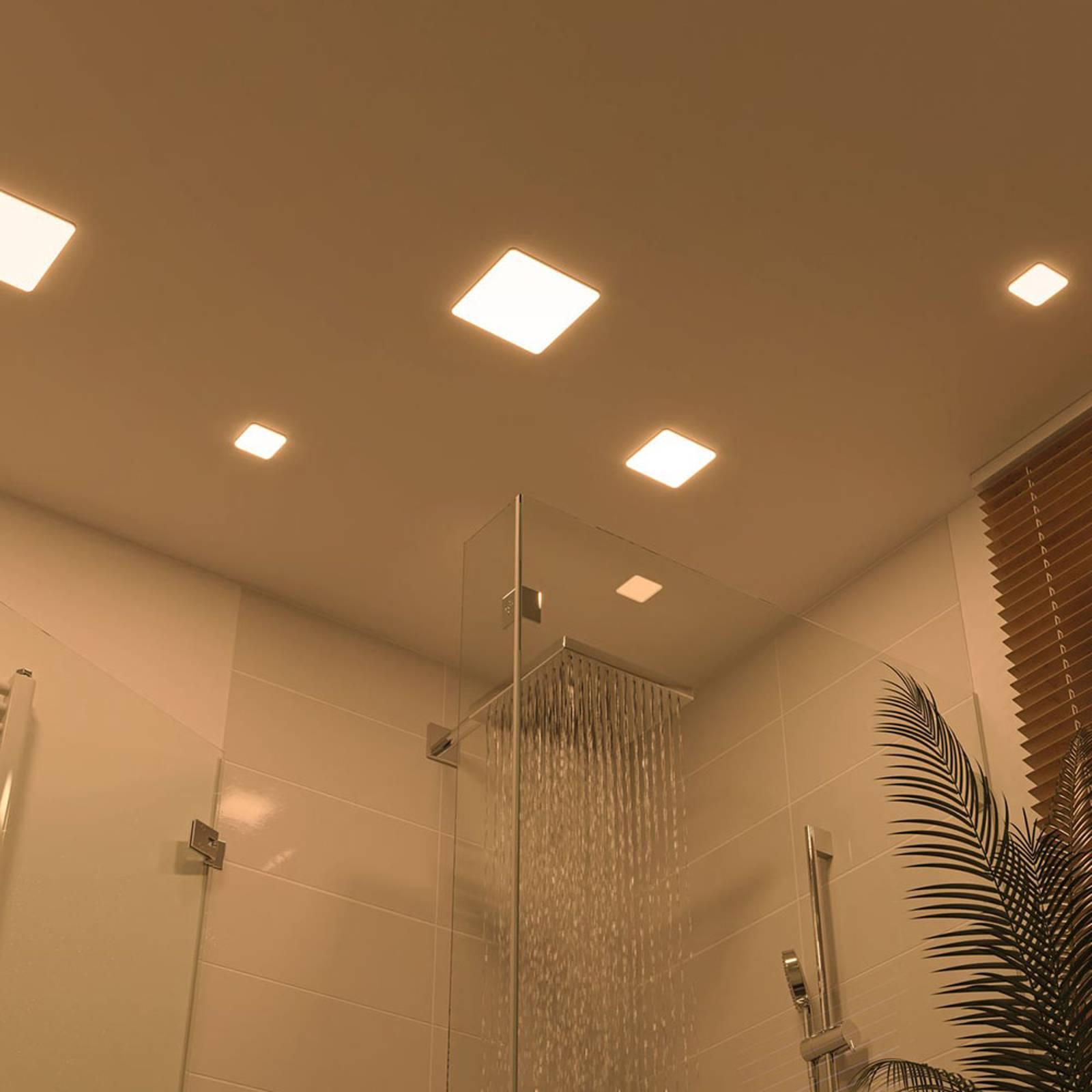 Paulmann-LED-paneeli Veluna 3 000 K kulmikas 7,5cm