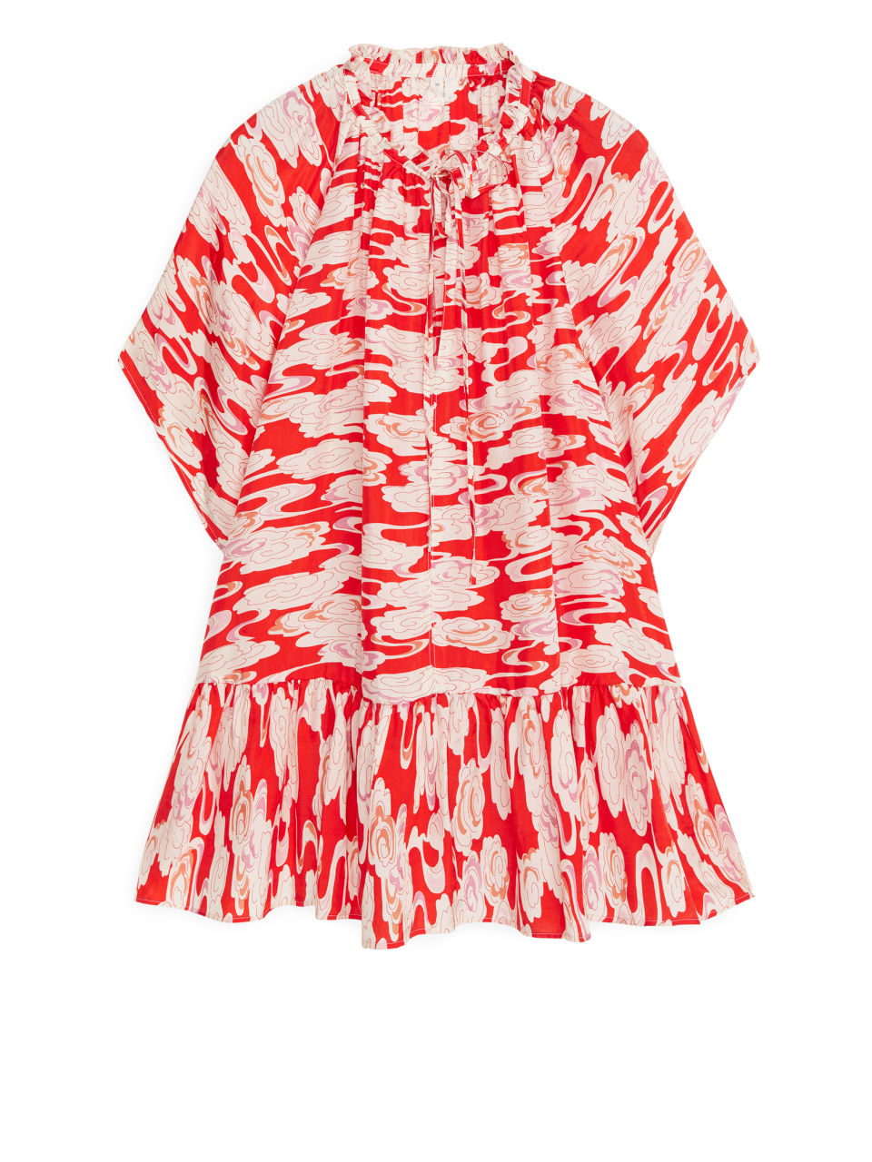 Ruffled Blouse - Red