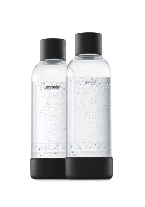 Mysoda 1l Flaske 2-pak Black Kolsyremaskin - Svart