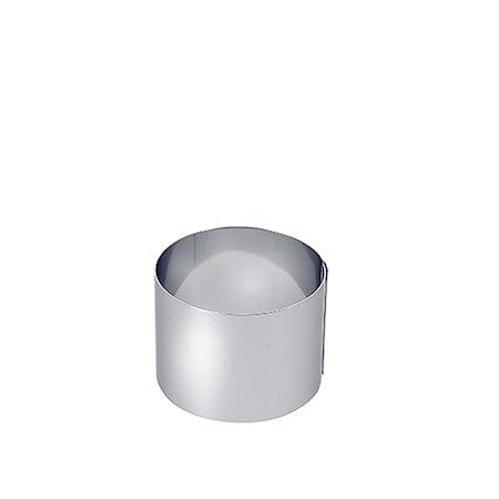 Kakering i stål Ø 8 cm H: 9 cm
