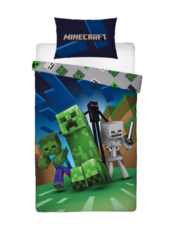 Bed Linen - Adult Size 140 x 200 cm - Minecraft (MNC199)