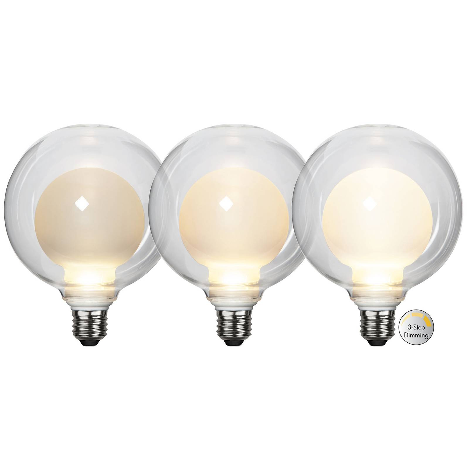 LED-lamppu Space E27 3,5W D125, opaali, 3-step dim