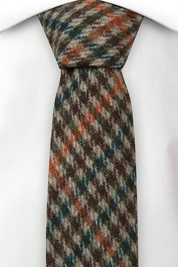 Ull Smale Slips, Plaid in beige, brown, green and orange, Beige, Pledd