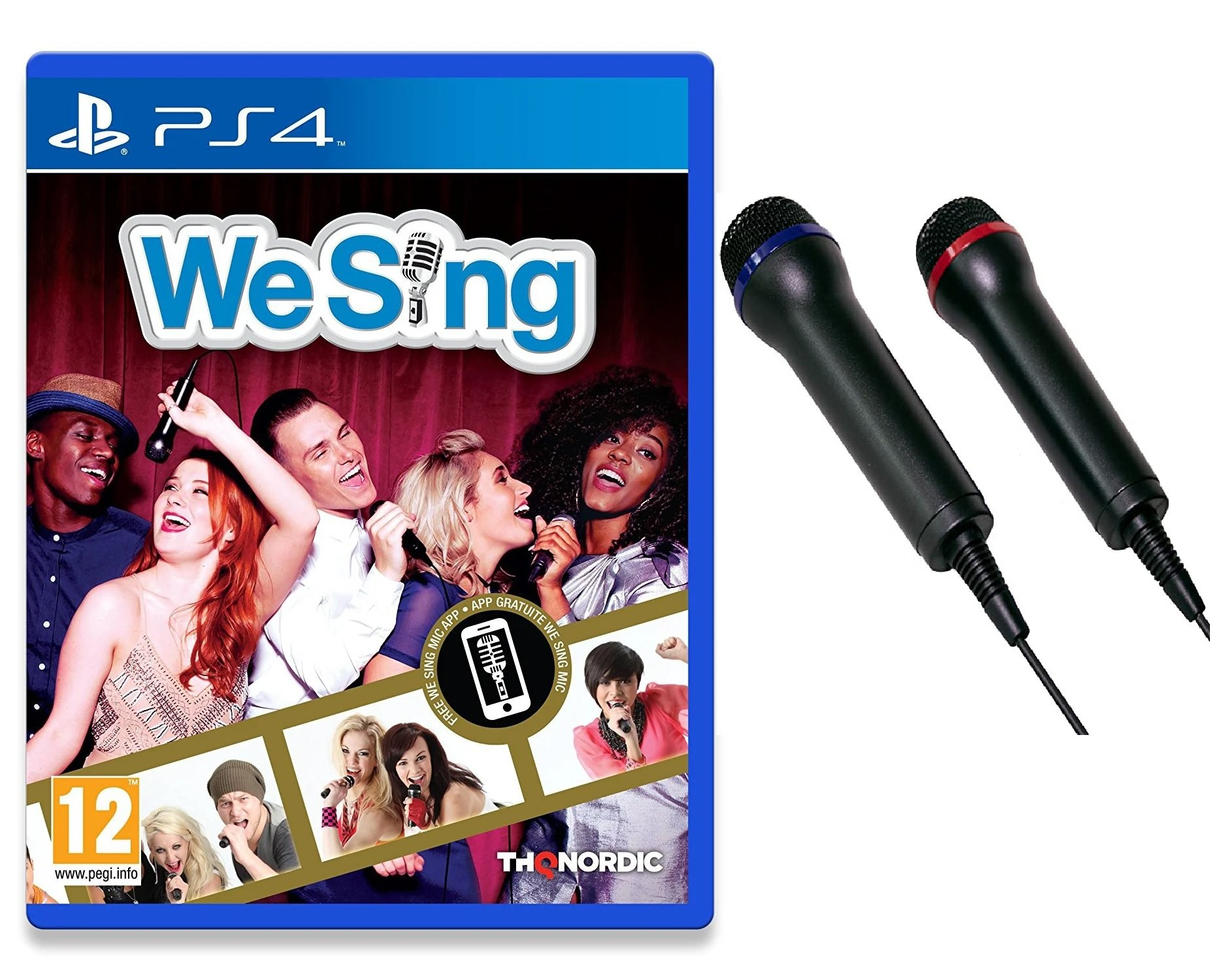 We Sing + DON ONE - GMIC200 DUAL Universal Duets Twin USB Microphone Pack (PS5/PS4/PS3/Xbox One/Xbox 360/PC/DVD)