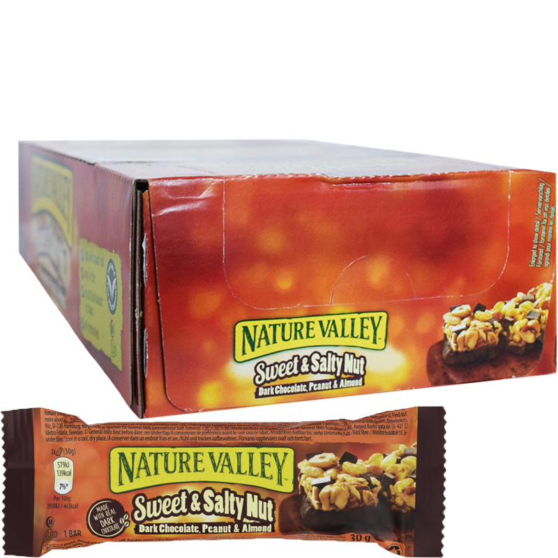 "Hel Låda Bars ""Sweet & Salty Nut"" 18 x 30g - 43% rabatt"