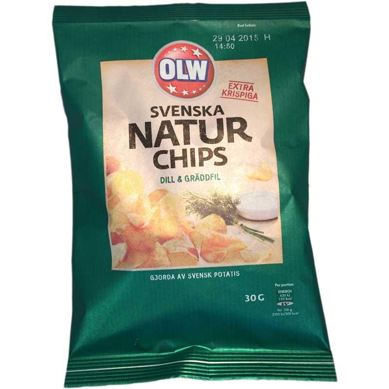 Natur Chips Dill & Gräddfil - 55% rabatt