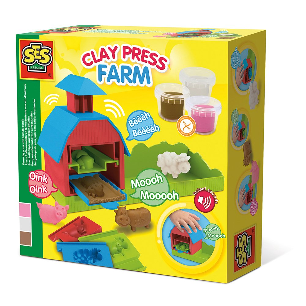 Ses Creative - Farm clay press with animal sounds (S00439)