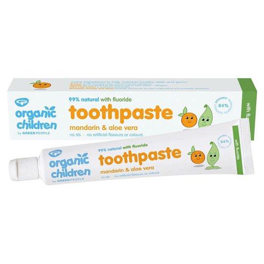 Organic Children Ekologisk Fluortandkräm för barn - Mandarin & Aloe Vera, 50 ml
