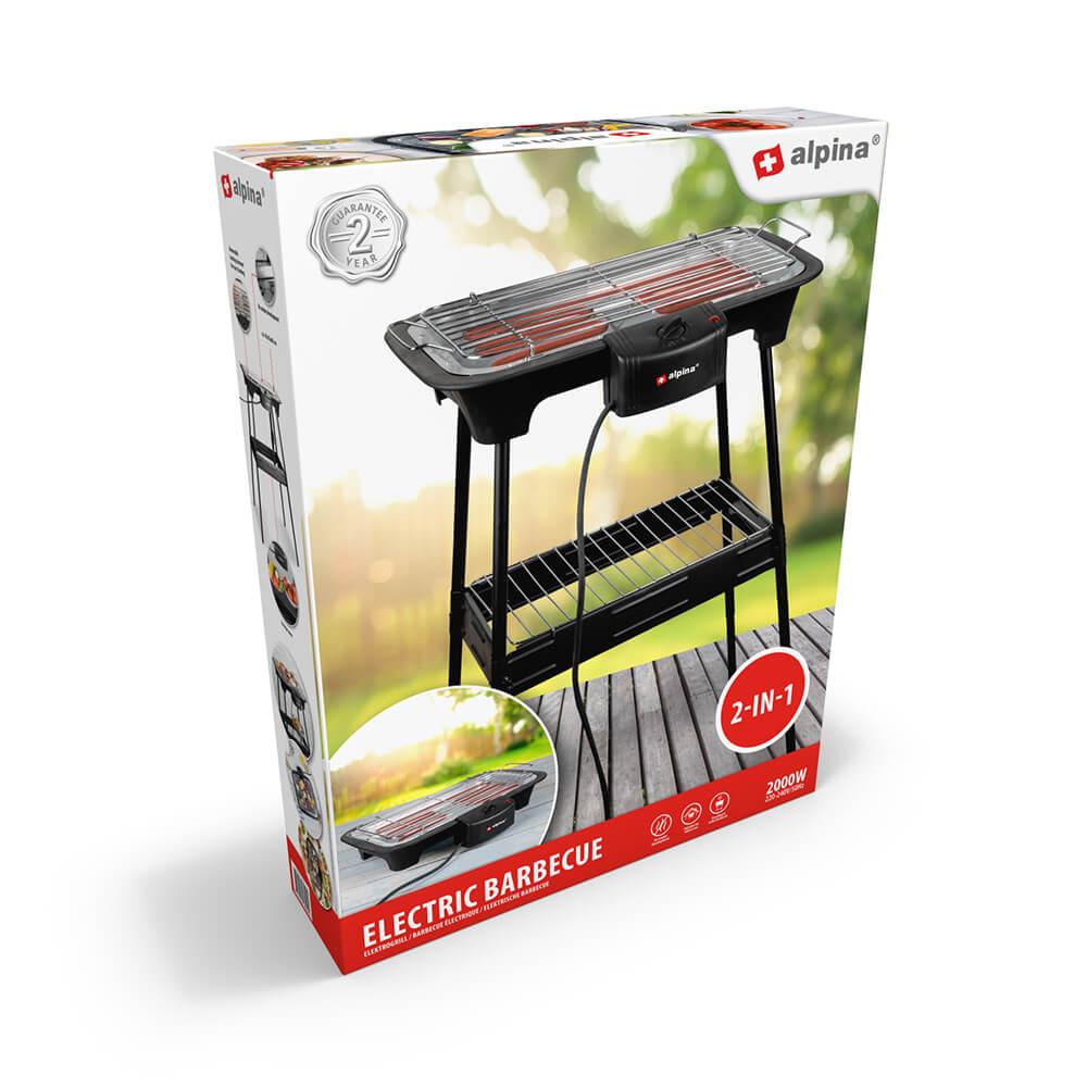 Alpina - Electric Barbecue 2-In-1 2000W