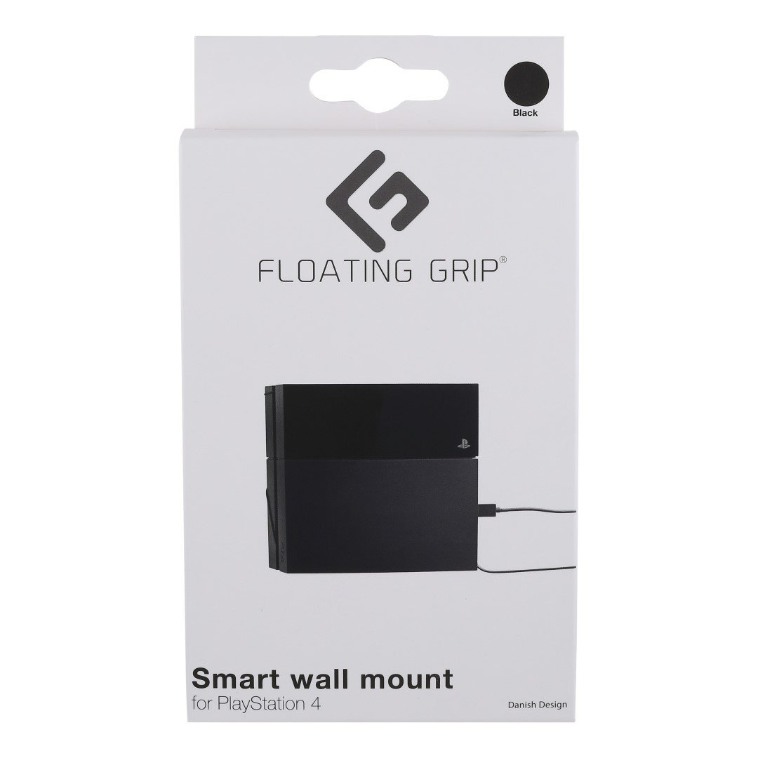 Floating Grip Playstation 4 Wall Mount (Black)