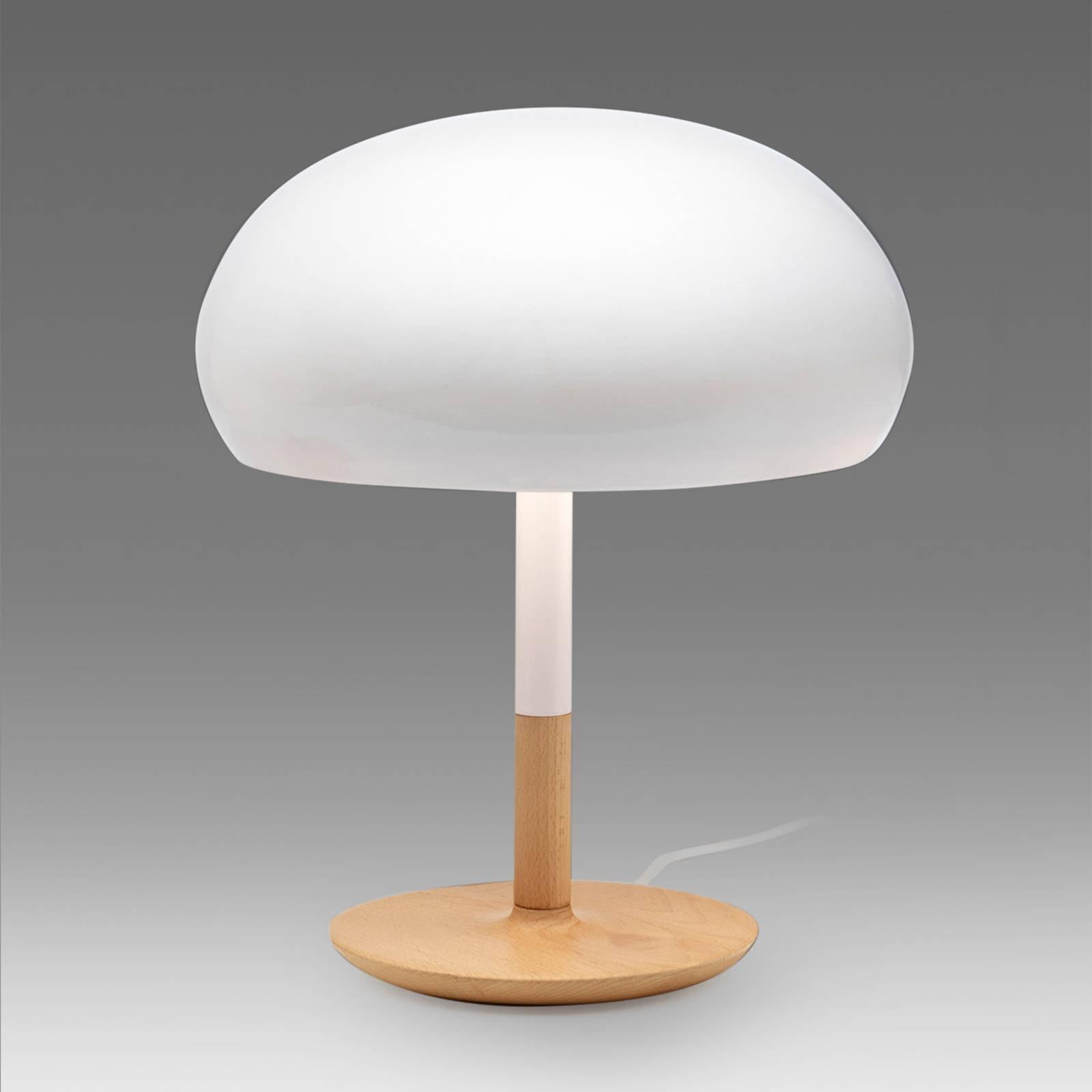Keramisk bordlampe Aspen i soppform, 45 cm
