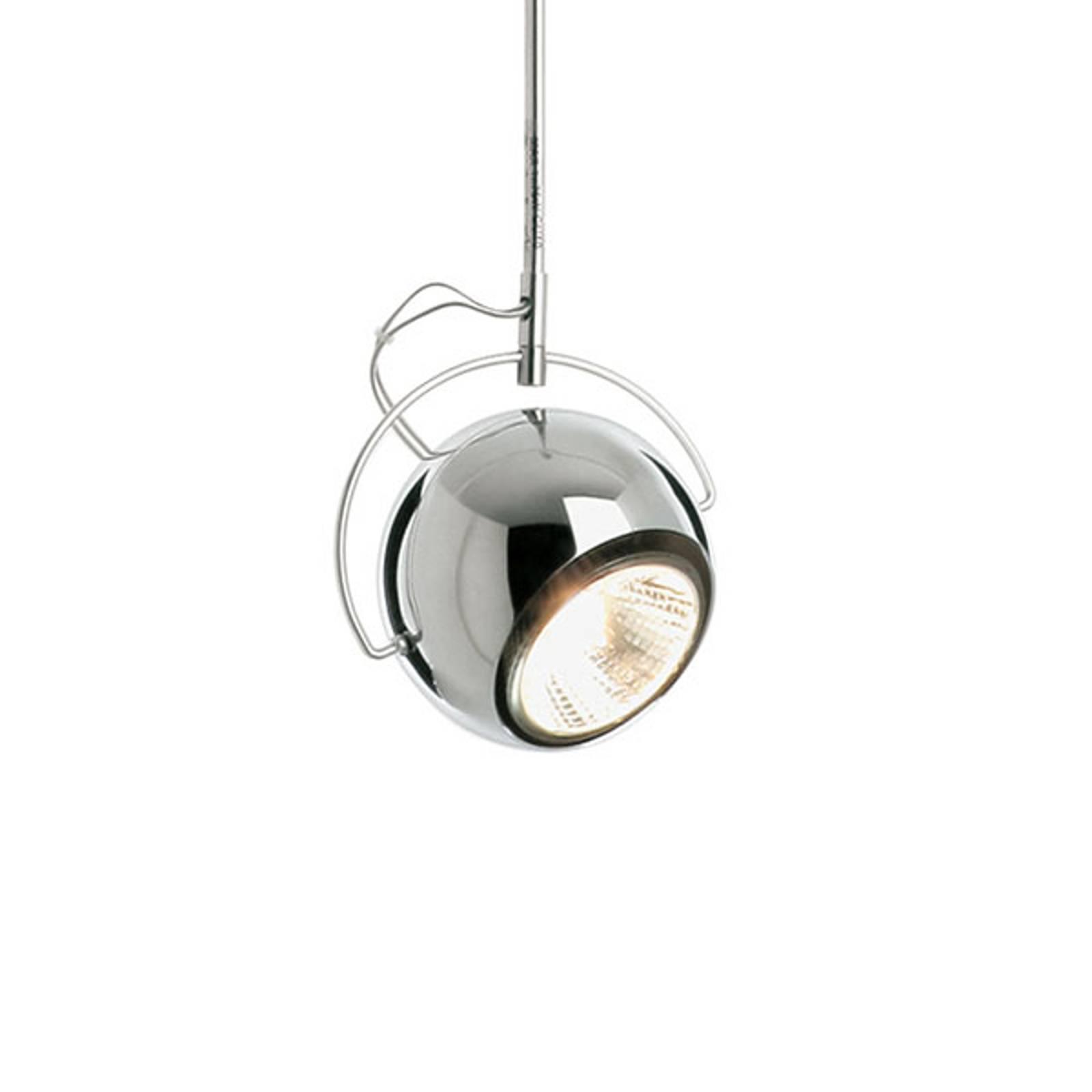 Fabbian Beluga Steel kromi-riippuvalo, Ø 9 cm