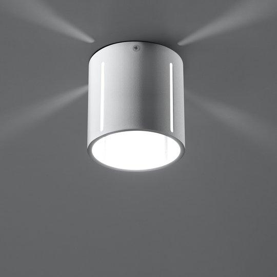 Taklampe Topa som hvit sylinder