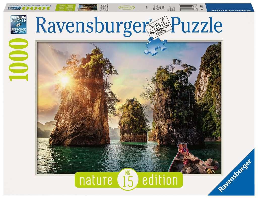 Ravensburger - Puzzle 1000 - Three rocks in Cheow, Thailand (10213968)