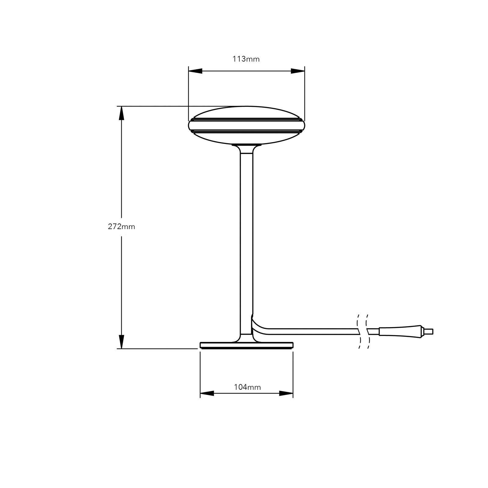 Shade ØS1 -LED-pöytälamppu, musta, musta jalka