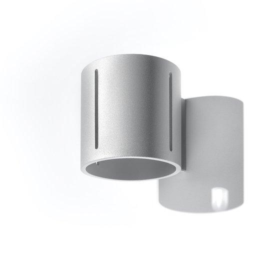 Vegglampe Topa up/down, grå lampekropp