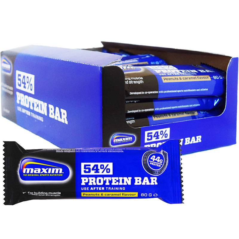 """Hel Låda Proteinbars """"Peanut & Caramel"""" 20 x 80g - 68% rabatt"""
