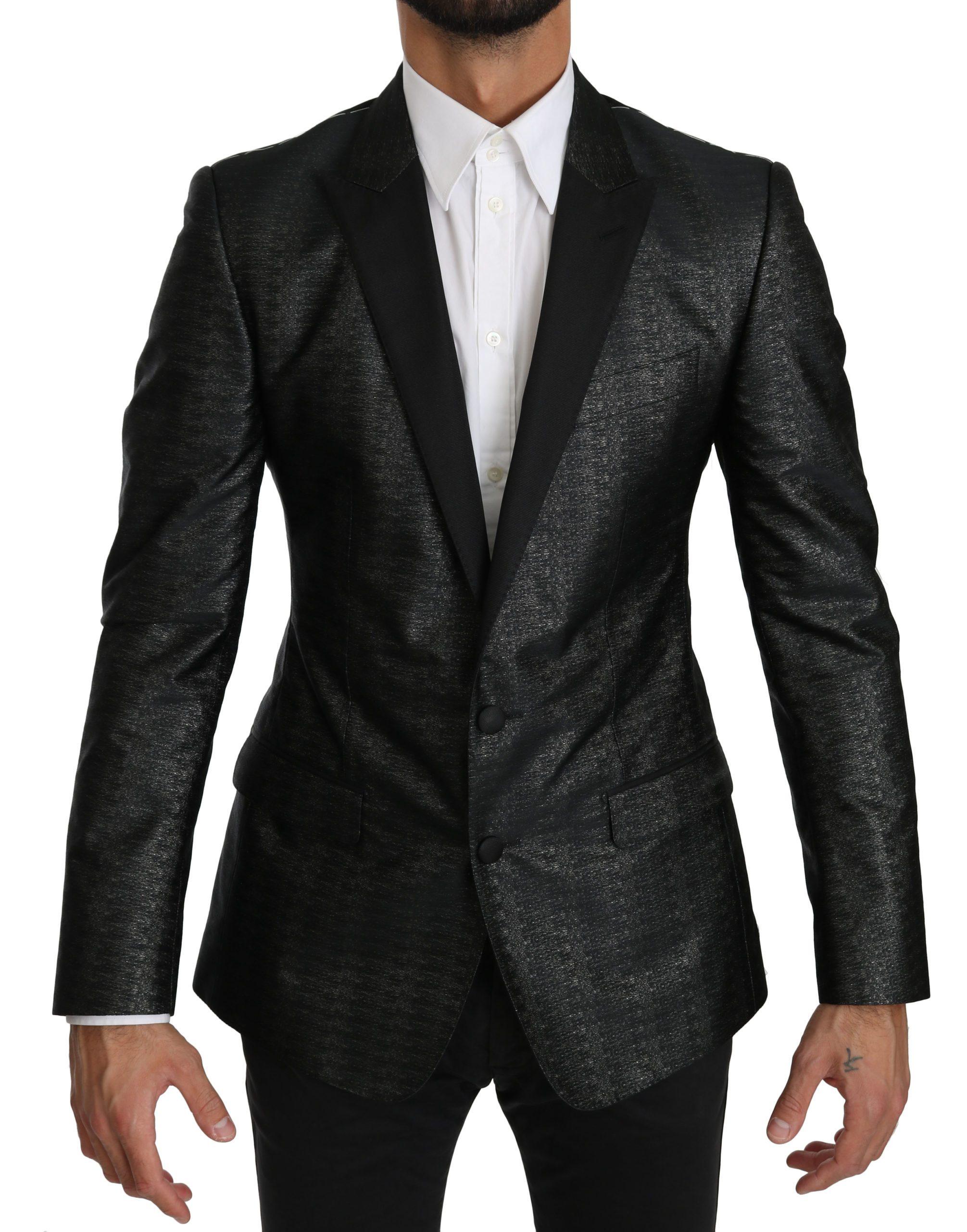 Dolce & Gabbana Men's Slim Fit MARTINI Blazer Black KOS1545 - IT48 | M