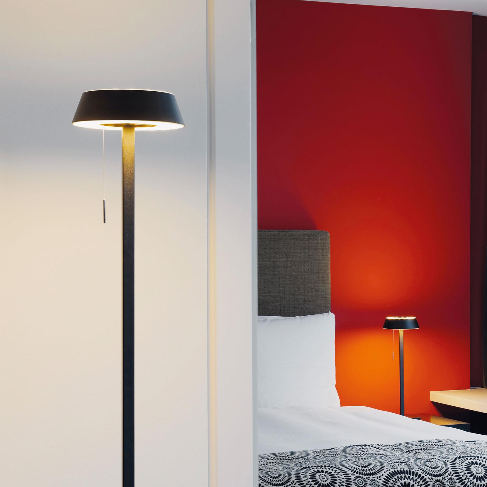 OLIGO Glance LED-lattiavalaisin, matta musta