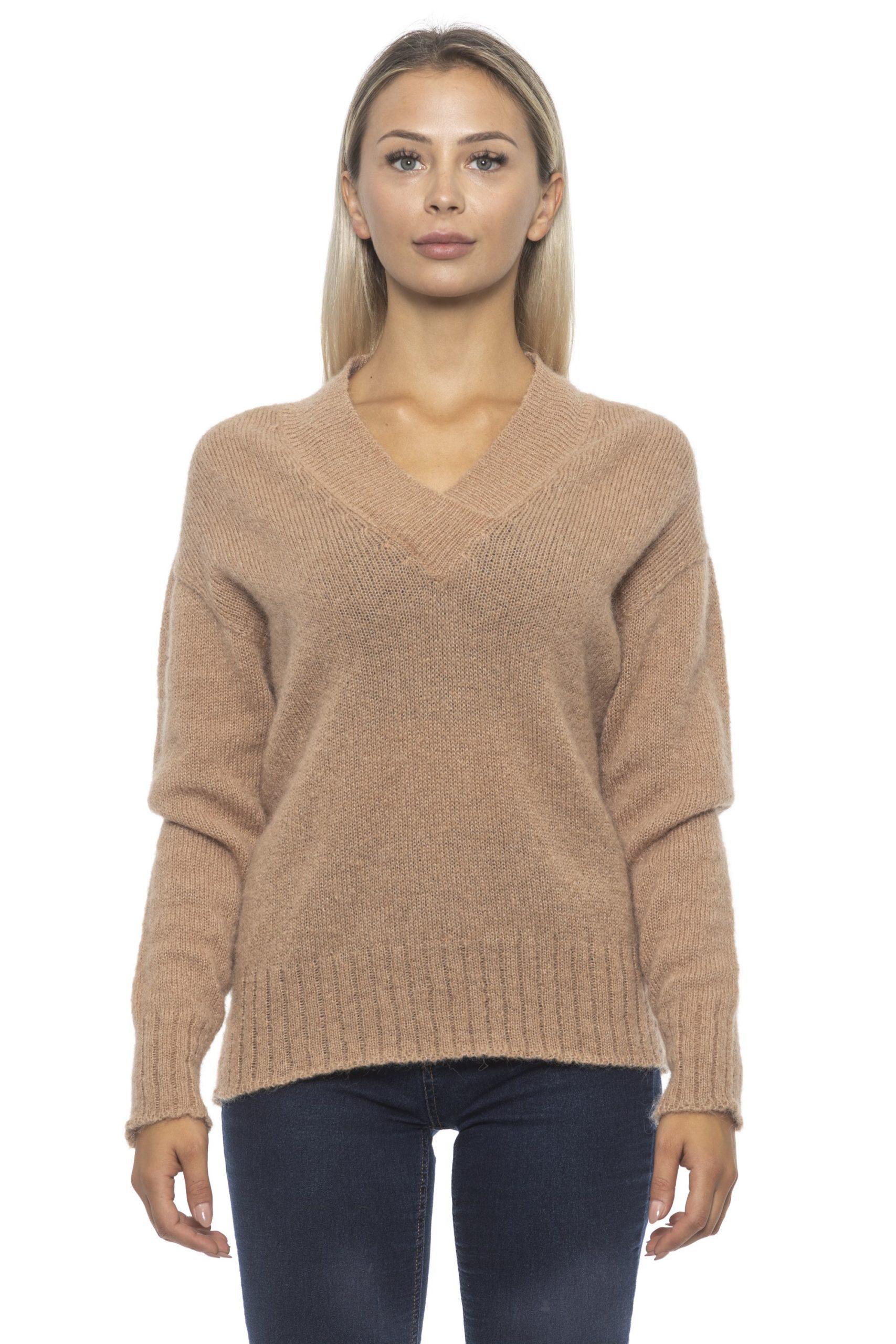 Alpha Studio Women's Miele Sweater Beige AL1314822 - IT42   S