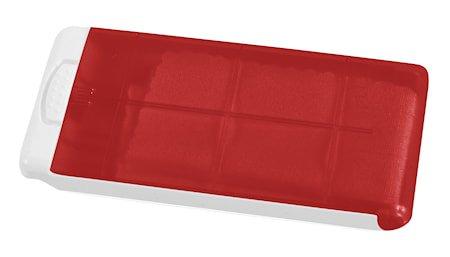 Pusseduk i ask Rød