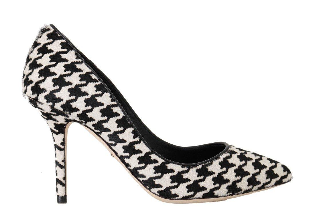 Dolce & Gabbana Women's Hair Leather Pumps Shoe Multicolor LA4143 - EU40.5/US10