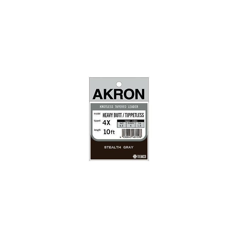 Akron Heavy Butt Tippetless - 10' / 3X Tippdiameter 0,200mm.
