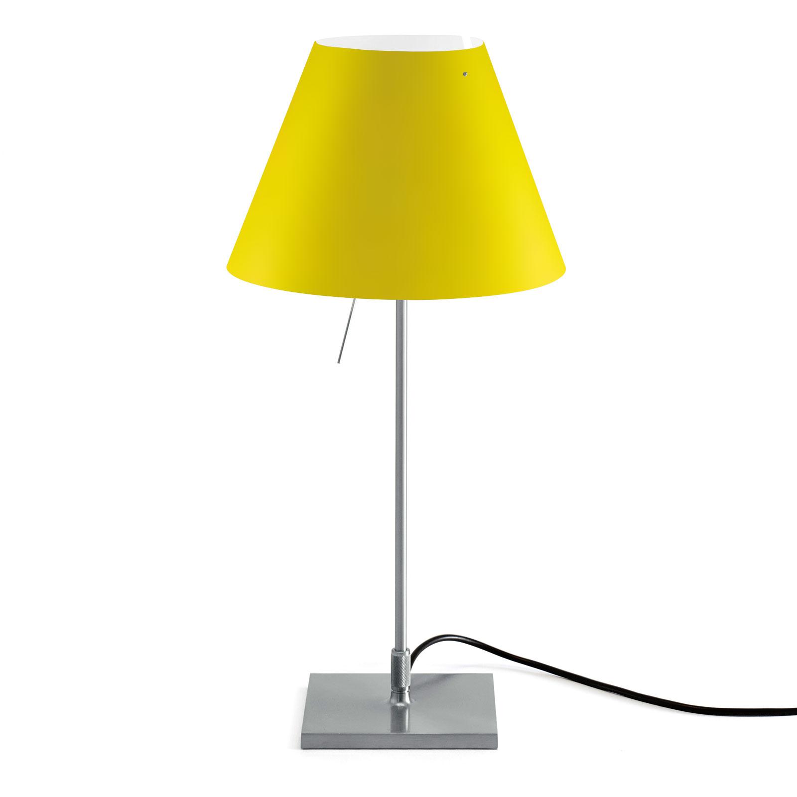 Luceplan Costanzina -pöytävalo alumiini/keltainen