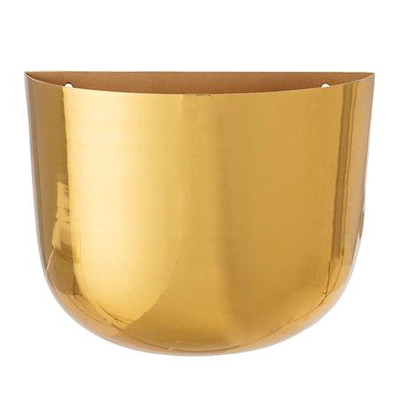 Wall Flowerpot, Brass, Metal