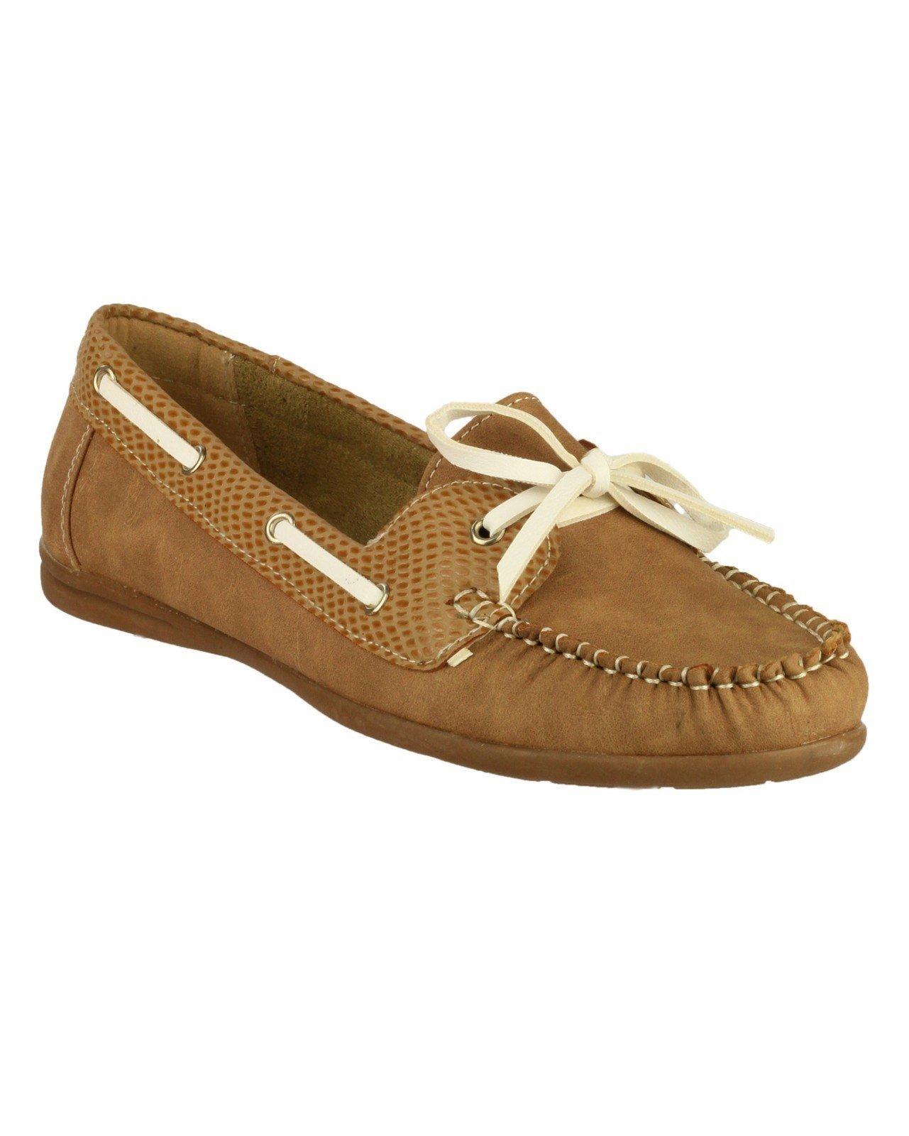 Divaz Women's Belgravia Slip on Shoe Red 19838-31017 - Tan 3