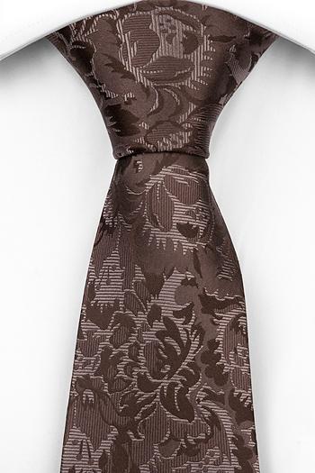 Silke Slips, Blommönster i olika bruna toner, Brun, Blomster, Notch GROUCHO