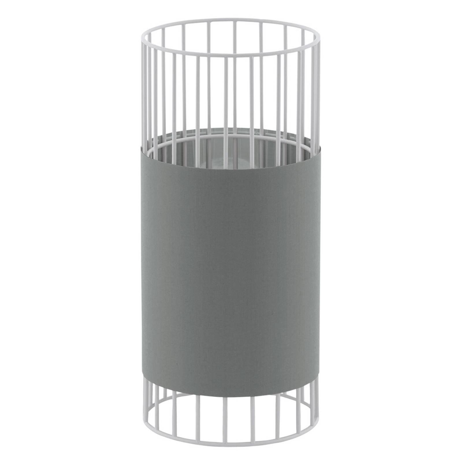 Bordlampe Norumbega med sylinderformet skjerm