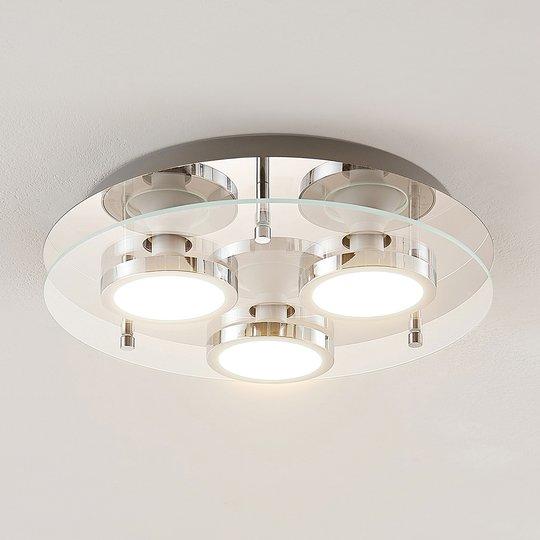 Lindby Gabryl LED -kattovalaisin 3-lampp. pyöreä