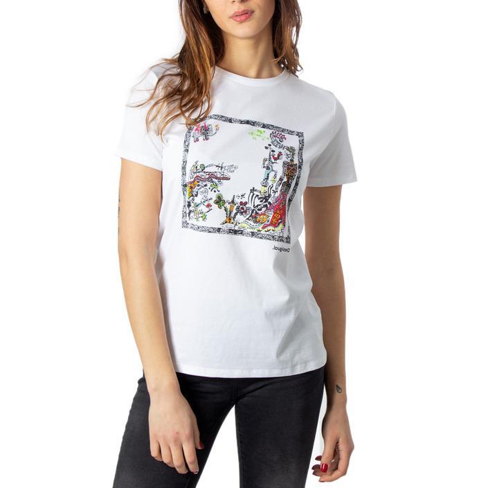Desigual Women's T-Shirt White 170569 - white M