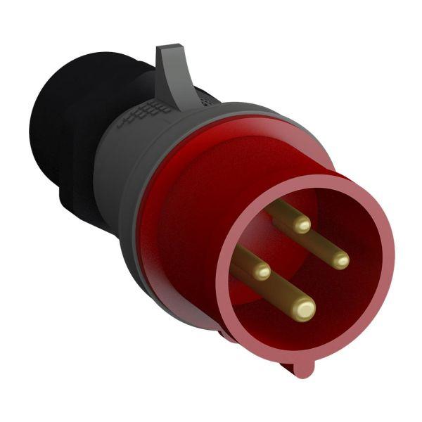ABB 2CMA102364R1000 Pistotulppa pikaliitettävä, tärinänkestävä Punainen, 32 A, 4-napainen, 63 mm