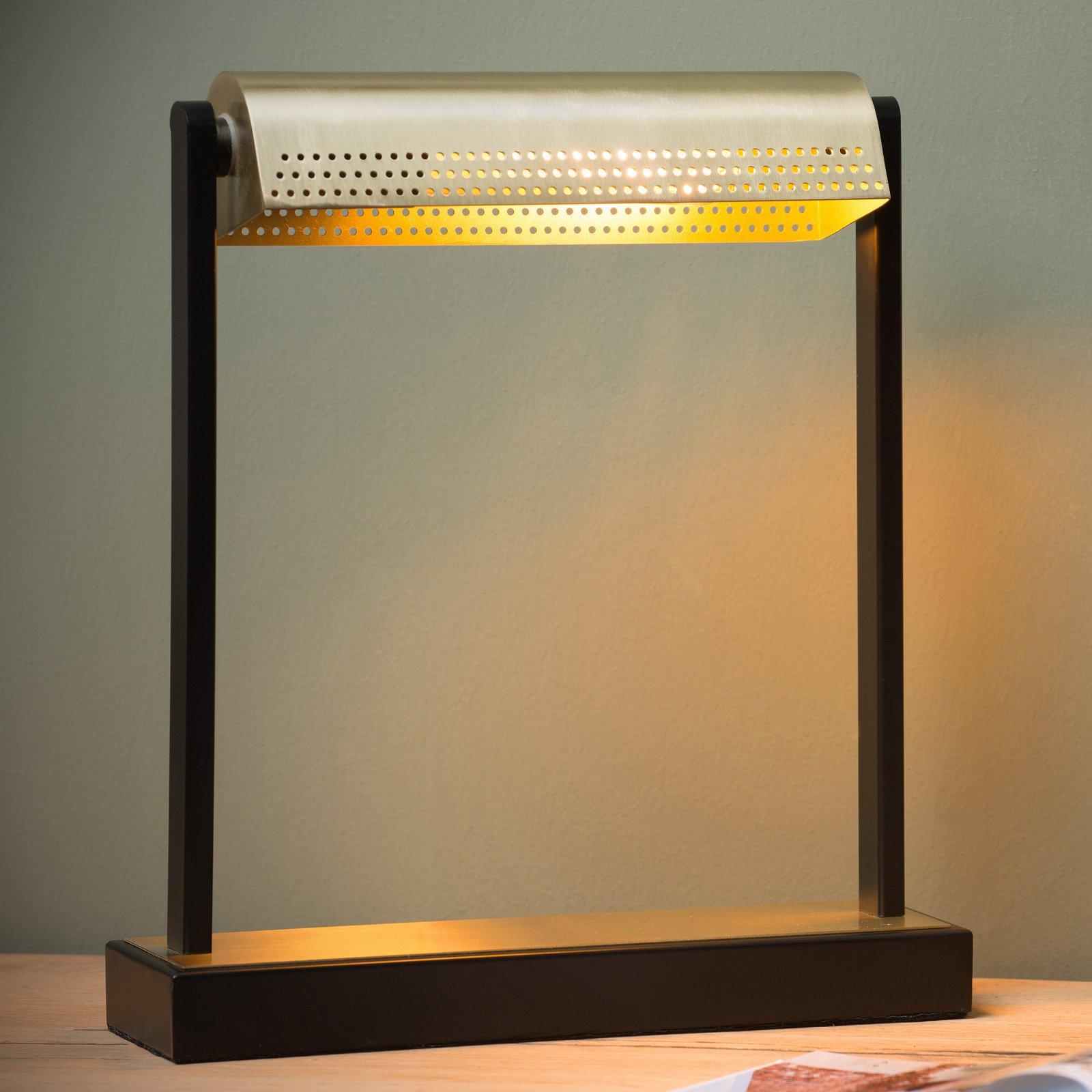 Laut bordlampe svart, matt gull