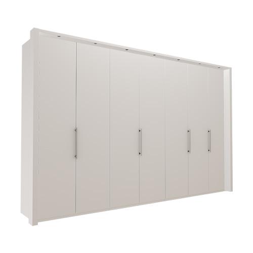 Garderobe Atlanta - Hvit 350 cm, 236 cm, Med ramme