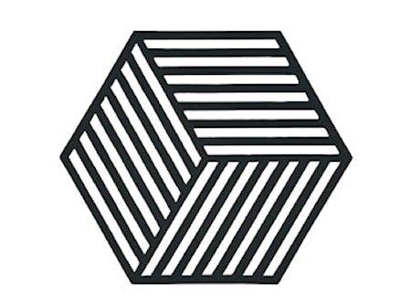 Bordbrikke Black Hexagon