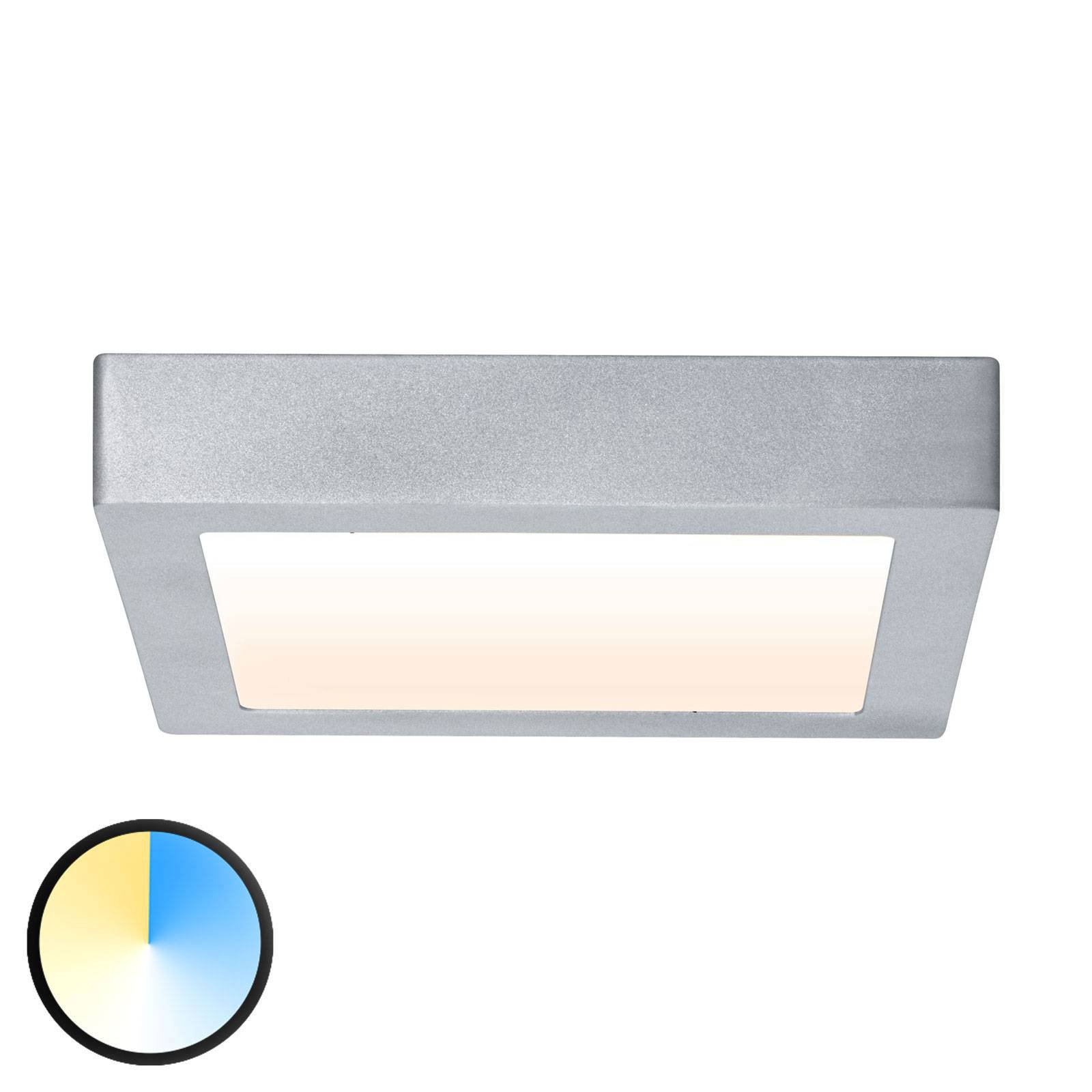 Paulmann Carpo LED-taklampe krom 22,5x22,5 cm