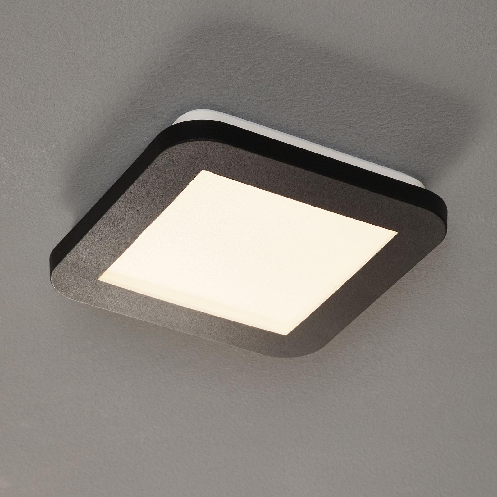 LED-kattovalaisin Camillus, neliö, 17 cm
