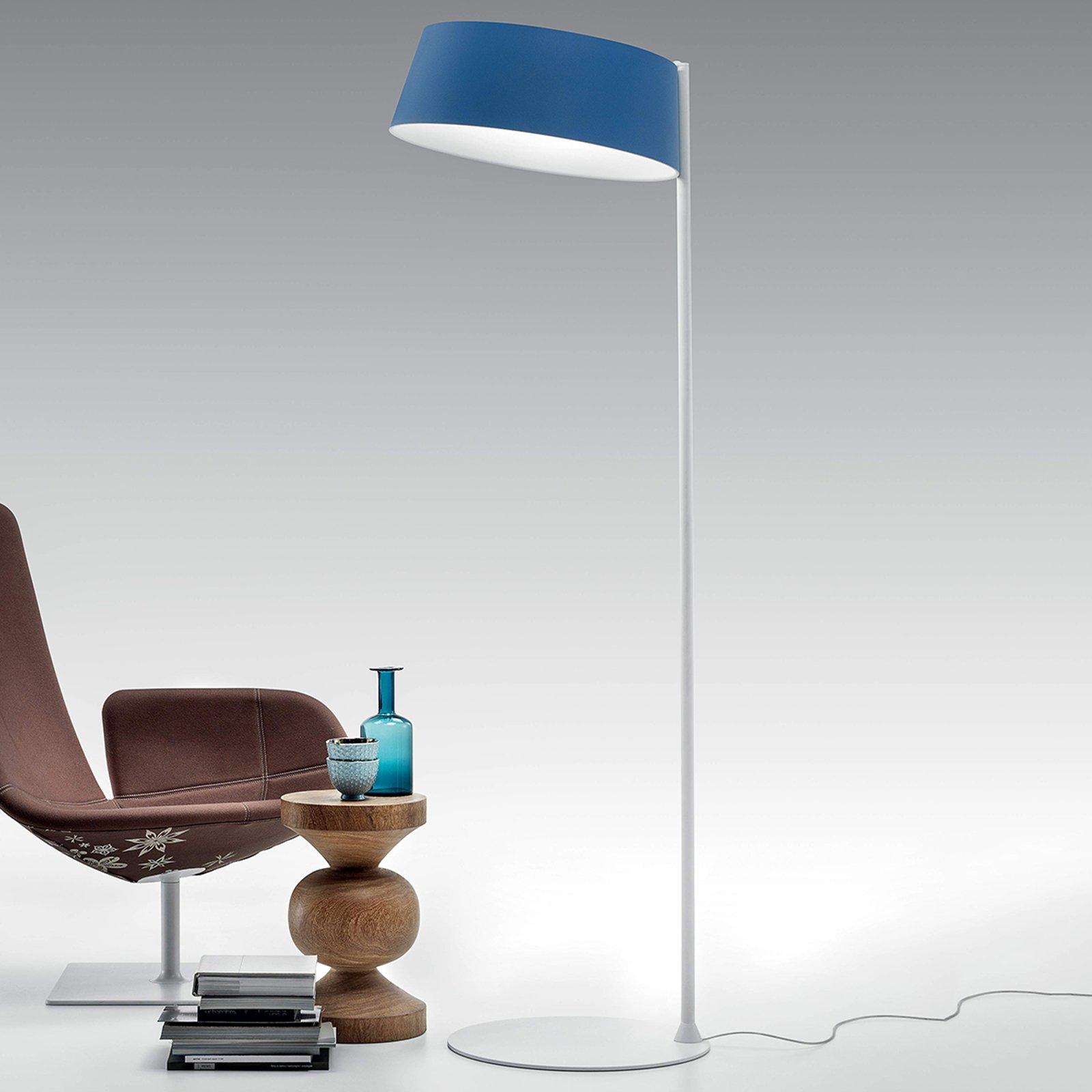 Oxygen_FL2 LED-gulvlampe, azurblå