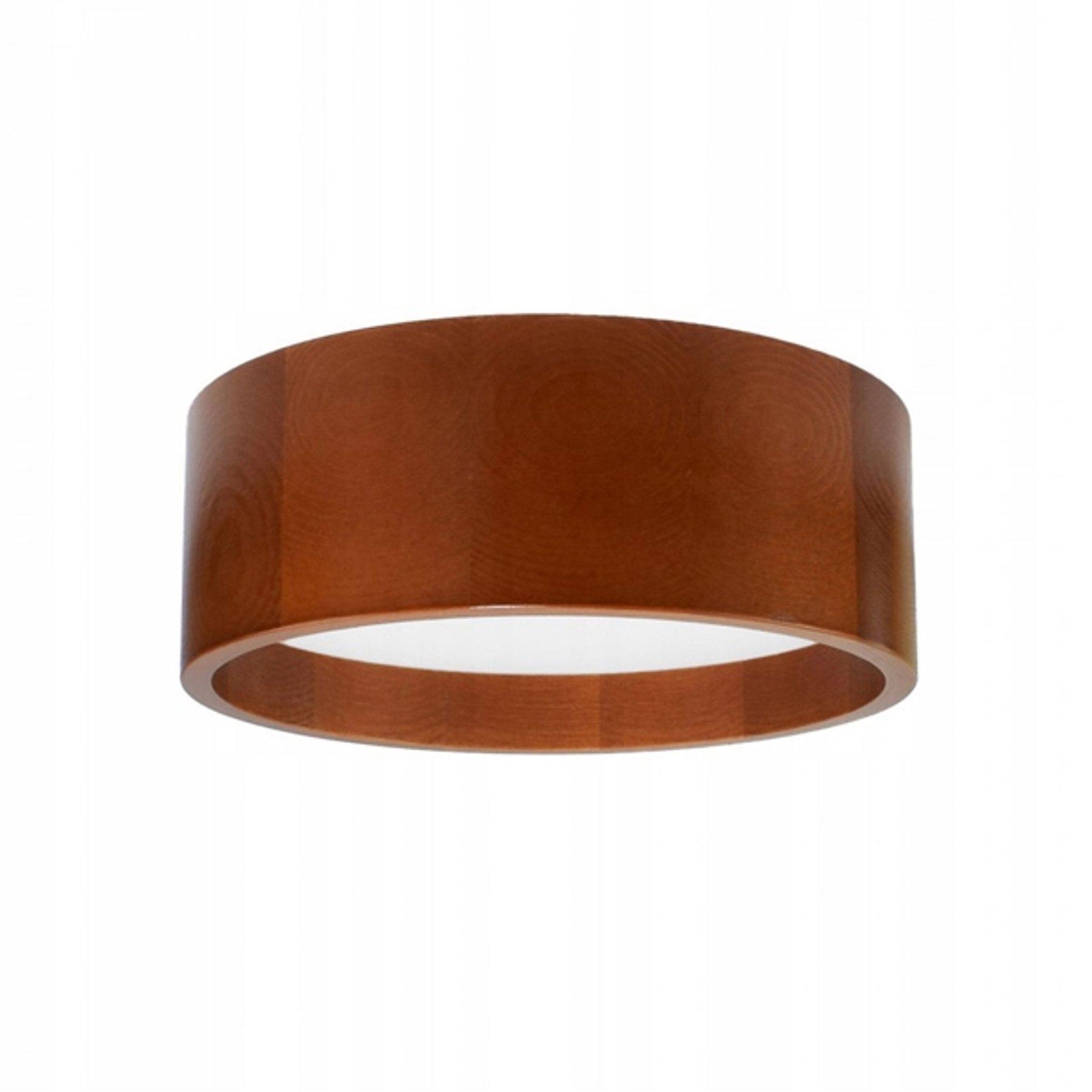 LED-taklampe Deep, Ø 28 cm, brun