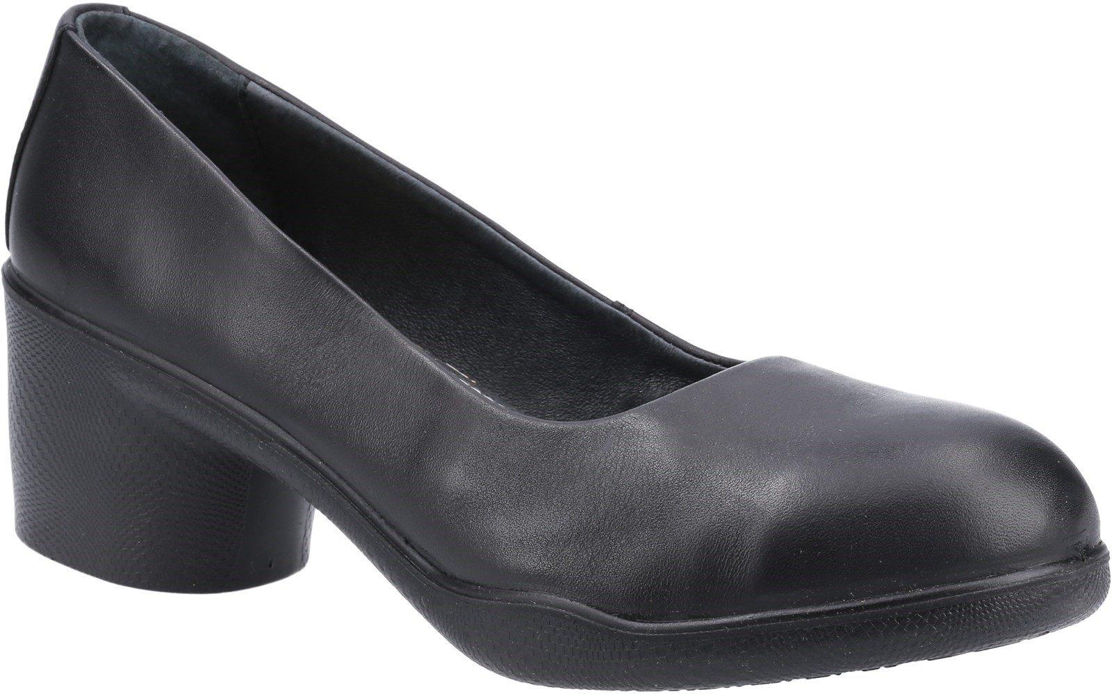 Amblers Safety Women's Brigitte Safety Court Shoe Black 31490 - Black 3